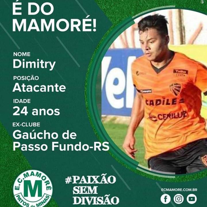 Mamoré/MG anuncia atacante Dimitry