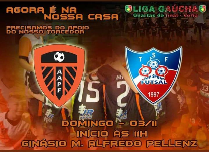 AAPF a uma vitória da semifinal da Liga Gaúcha sub-11