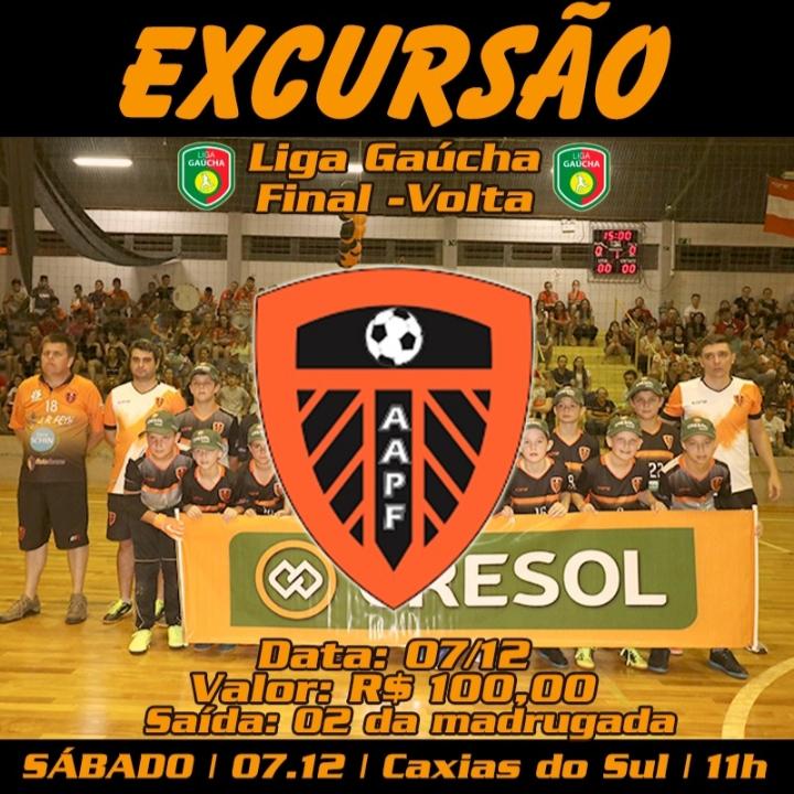 AAPF realiza excursão para Caxias para a final da Liga Gaúcha sub-11