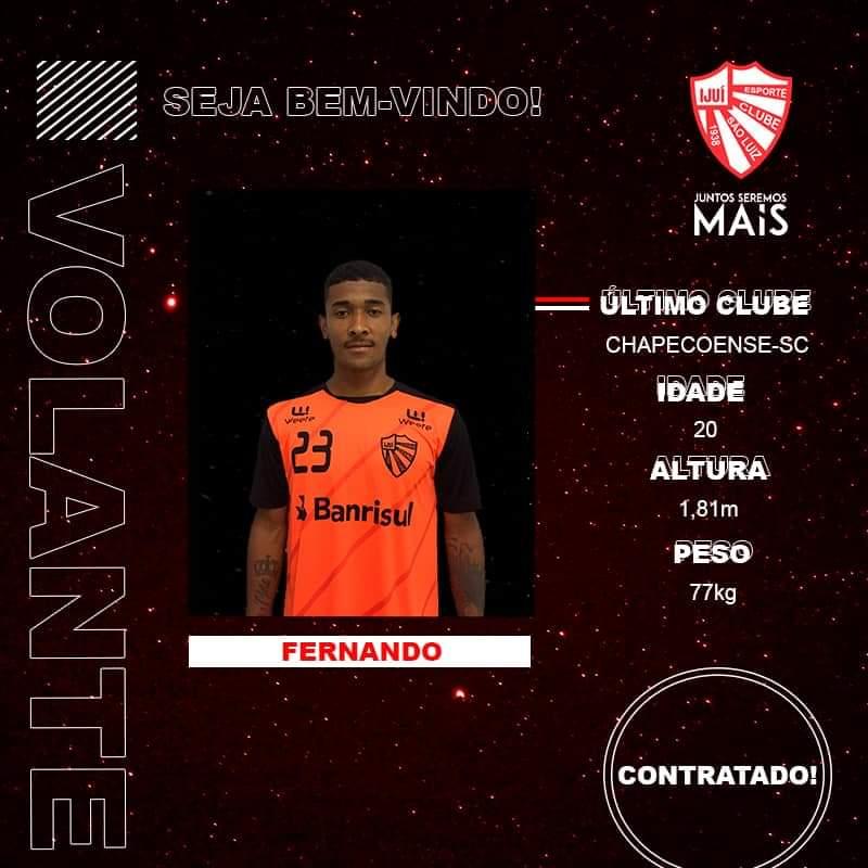 São Luiz anuncia oficialmente o volante Fernando