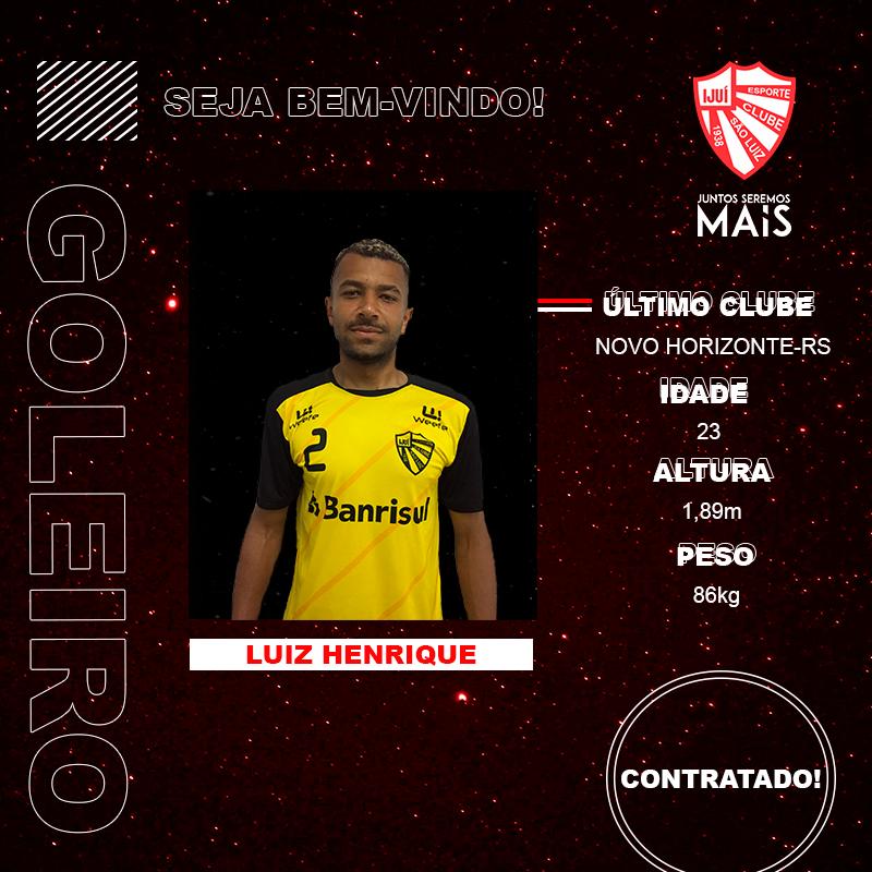 São Luiz anuncia oficialmente o goleiro Luiz Henrique