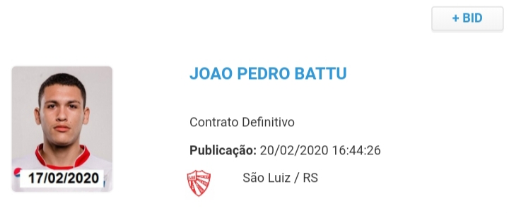 Battu assina contrato por duas temporadas com o São Luiz