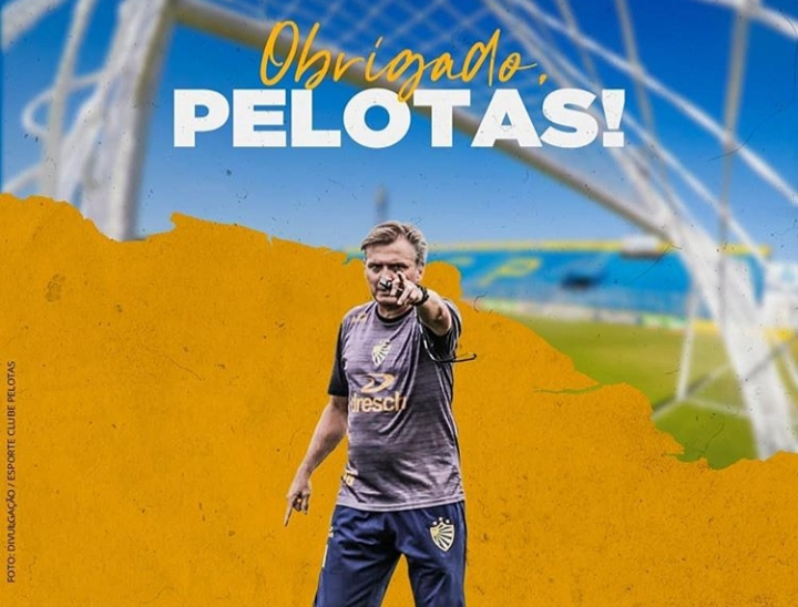 Luis Carlos Winck não é mais treinador do Pelotas