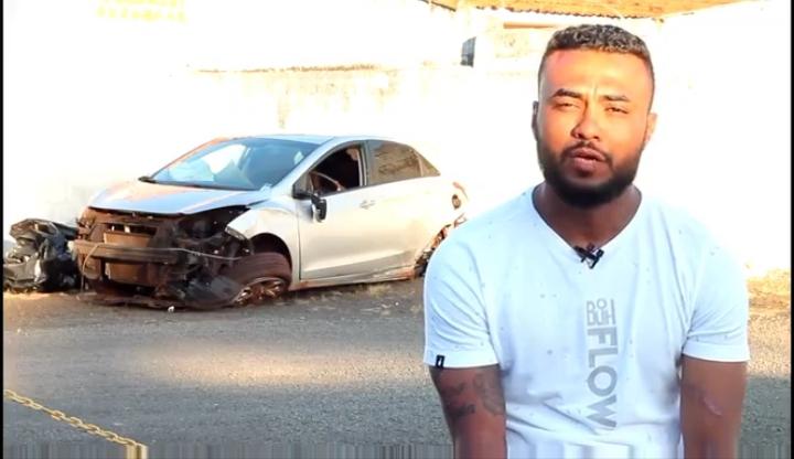 Zagueiro do São Luiz sofre acidente de carro