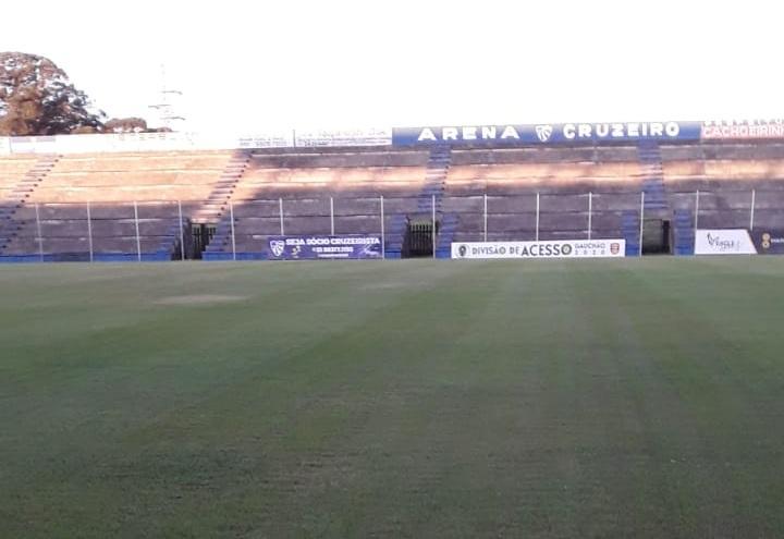 Confira fotos da Arena Cruzeiro, palco de São Luiz x Brasil/PEL