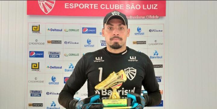 Goleiro Rafael Roballo revela desejo de renovar com o São Luiz para 2021