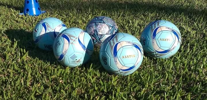 Coordenador da escola de futebol do São Luiz agradece o técnico Paulo Henrique Marques por doações de materiais esportivo