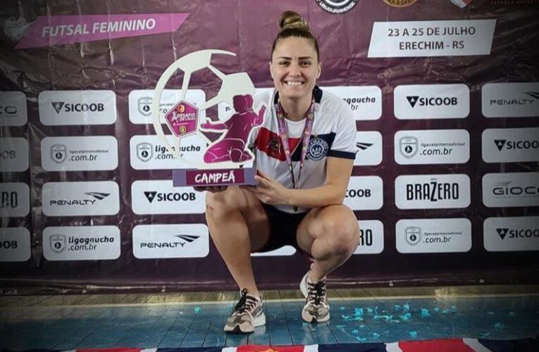 Madrinha da Escolinha Feminina do São Luiz sagra-se campeã do Desafio de Ligas