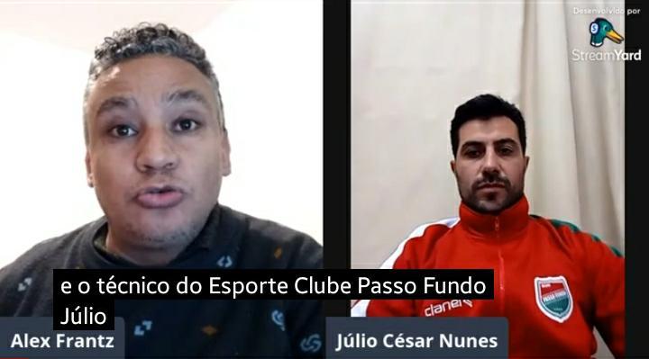 Técnico do Passo Fundo, Júlio César Nunes, projeta a Divisão de Acesso